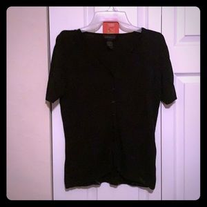 Express size L button down short sleeve sweater